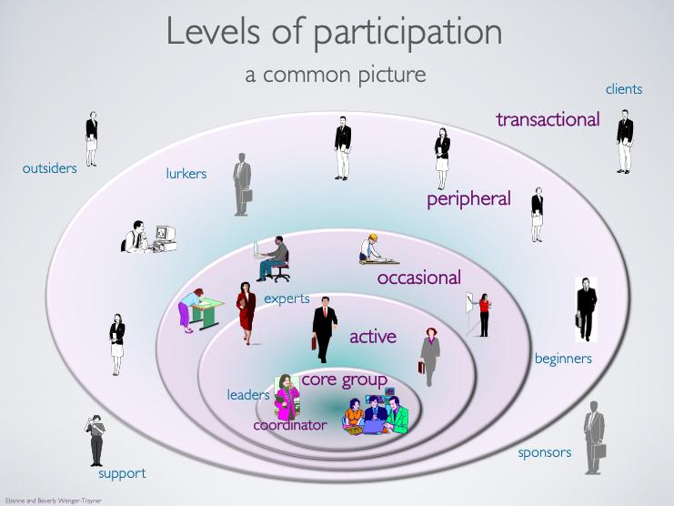 Figure 2. CoP's roles & levels of participation